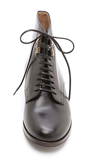 A.P.C. Lace Up Flat Booties