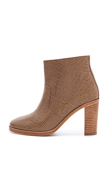 A.P.C. Embossed Heel Booties