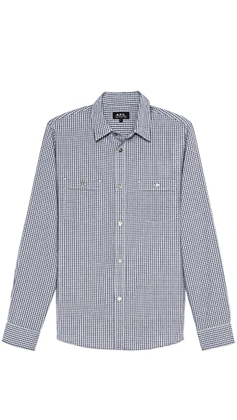A.P.C. Flannel Small Check Sport Shirt