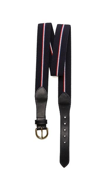 A.P.C. Striped Webbed Belt