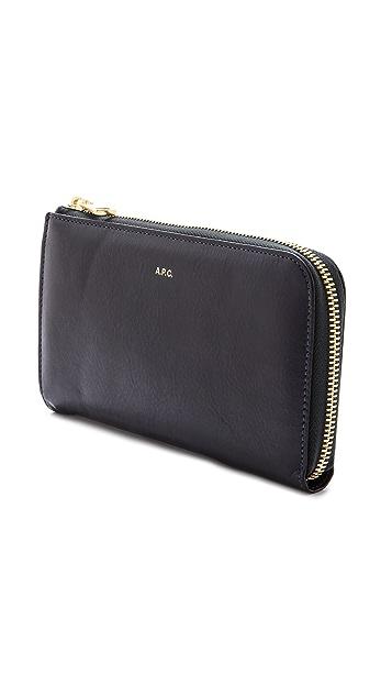 A.P.C. Zipped Wallet