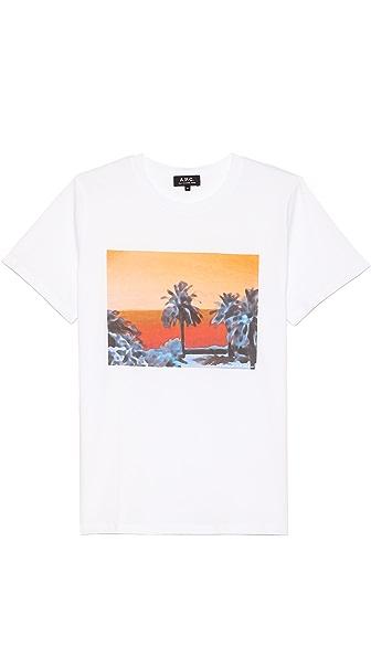 A.P.C. Palmier Print T-Shirt