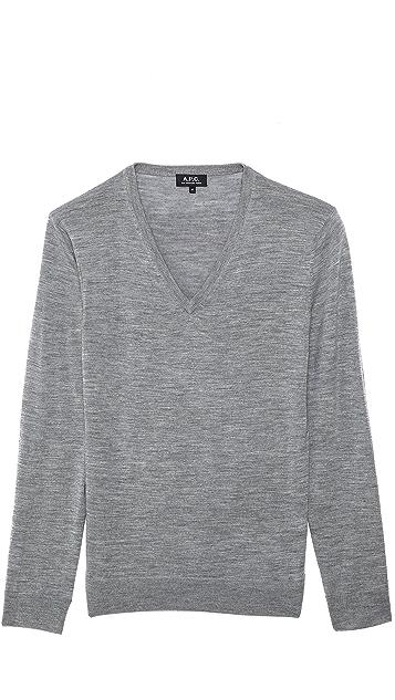 A.P.C. V Neck Sweater