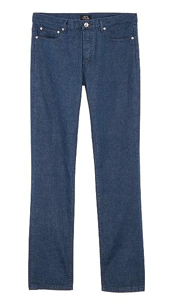A.P.C. Blue Donegal Petit Standard Jeans