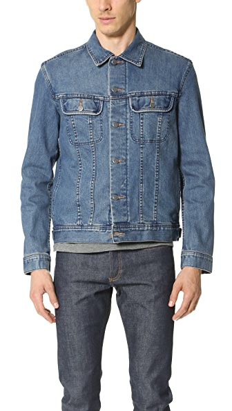 A.P.C. Washed Stretch New Denim Jacket | EAST DANE