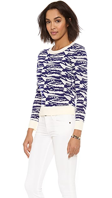 A.P.C. Intarsia Crew Neck Sweater