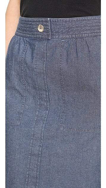 A.P.C. Safari Denim Skirt