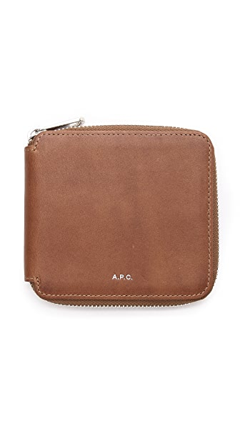 A.P.C. New Compact Zip Wallet