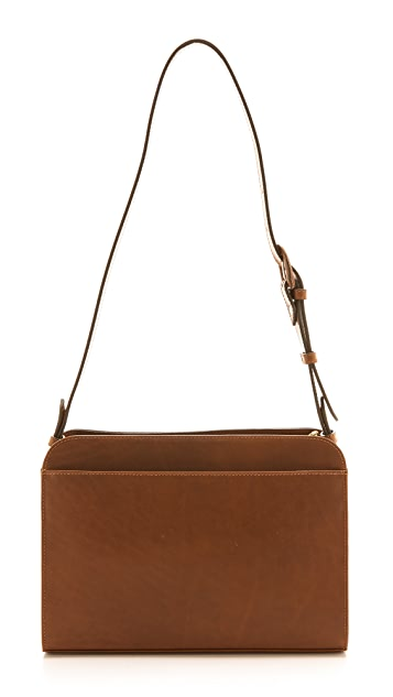 A.P.C. Embossed Satchel Bag