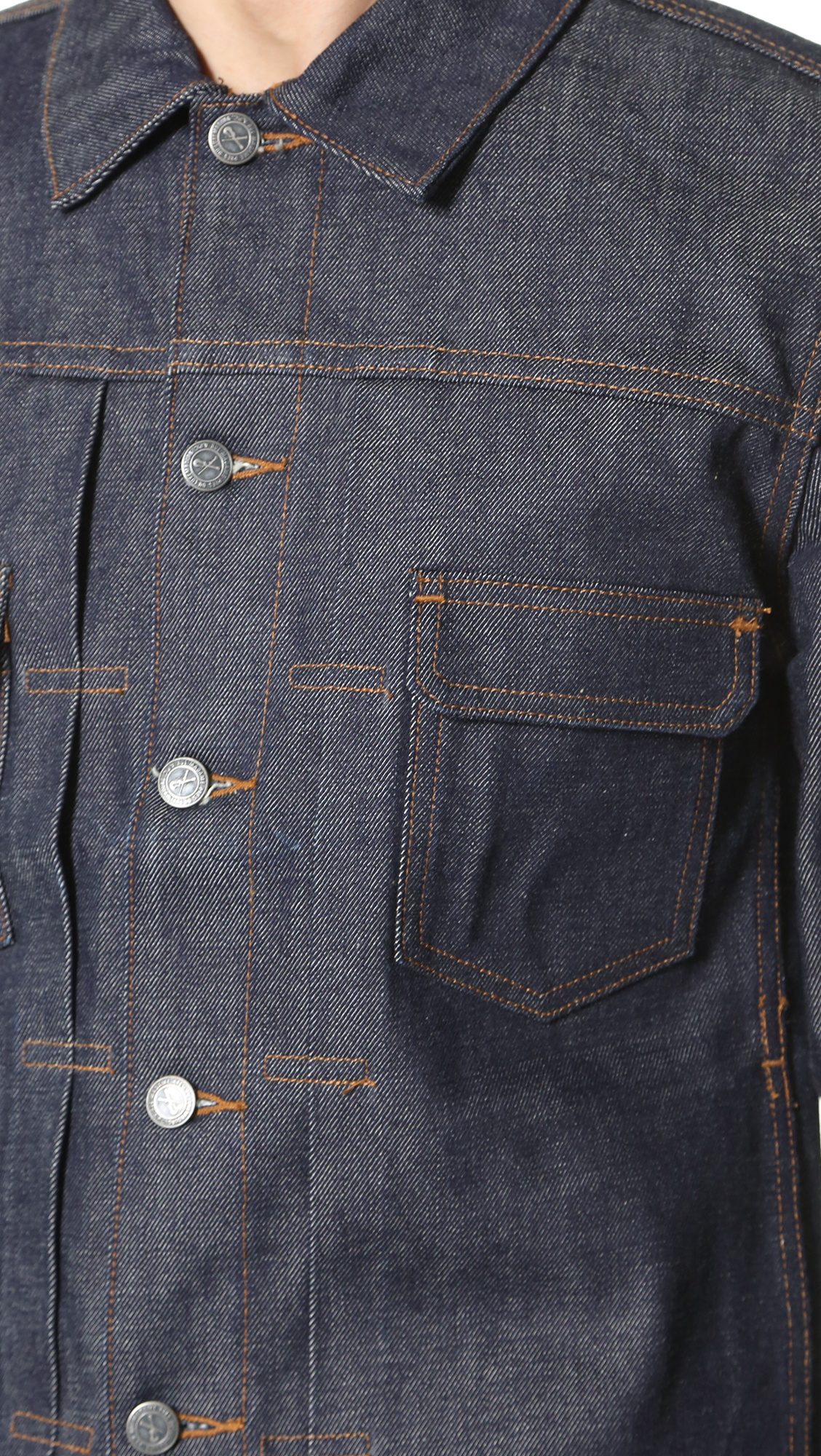 43edec0936f A.P.C. Raw Denim Work Jacket
