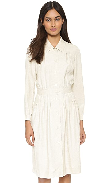 Shop A.P.C. online and buy A.P.C. Saint Germain Shirtdress Ecru dresses online