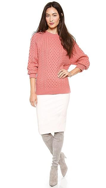 Apiece Apart Anni Crewneck Fisherman Sweater