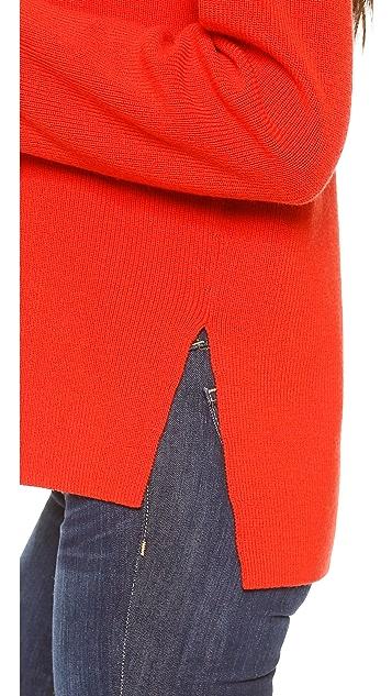 Apiece Apart Uta Side Seam Turtleneck Sweater