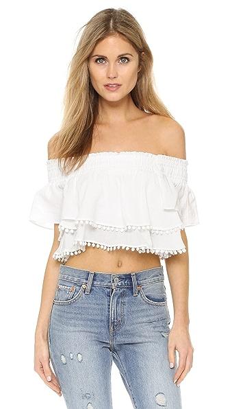 Apiece Apart Rosal Mini Shirred Top