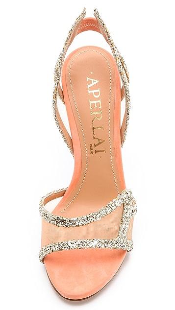 Aperlai Glitter Wing Sandals