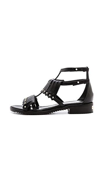 Aperlai Fringe Studded Sandals