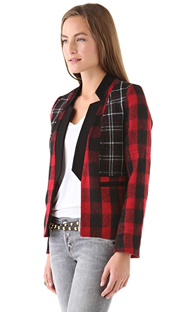April, May Willow Checked Wool Blazer