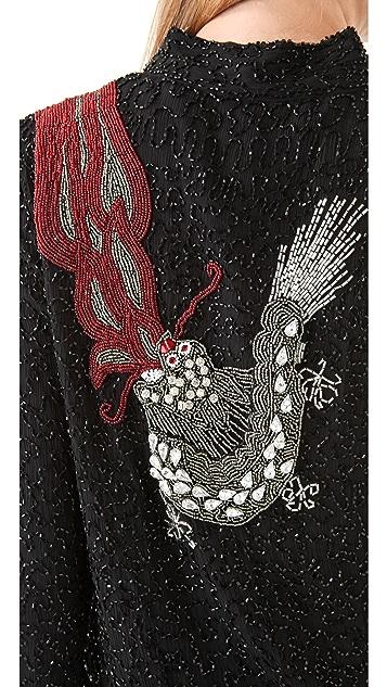 April, May Drea Sequin Dragon Jacket