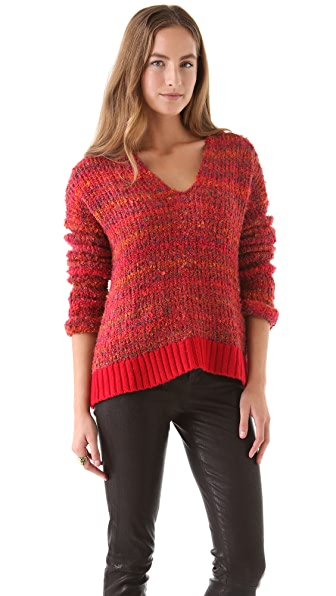 April, May Etoile V Neck Sweater