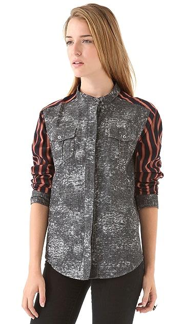 April, May Jessey Jean & Stripe Shirt