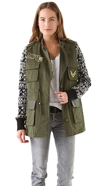 April, May Milisa Military Knit Jacket