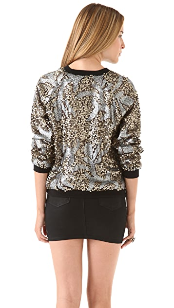 April, May Noa Sequin Sweatshirt