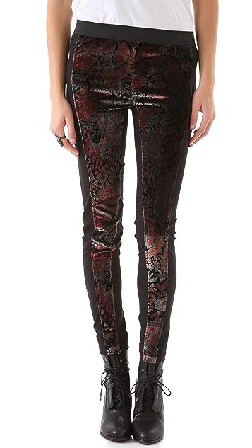 April, May Vernon Velvet Printed Pants