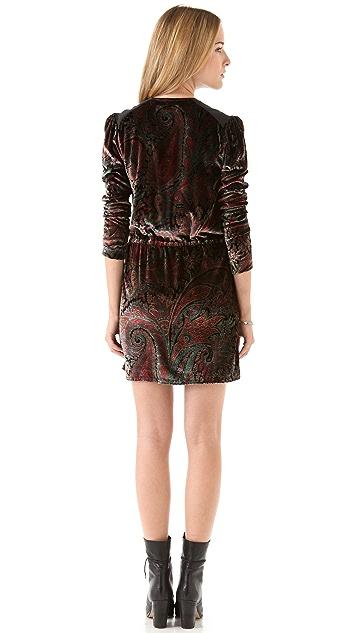 April, May Vera Velvet Printed Dress