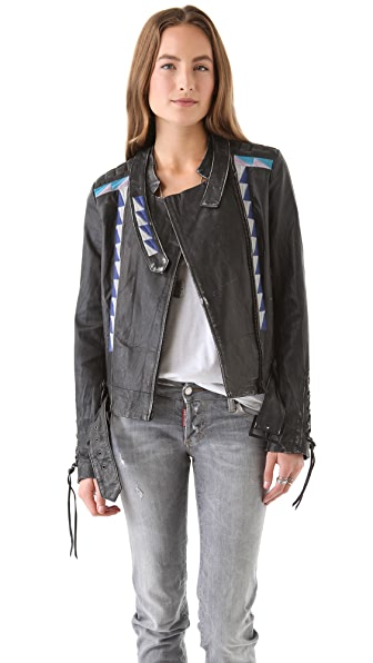 April, May Vanesa Leather Jacket