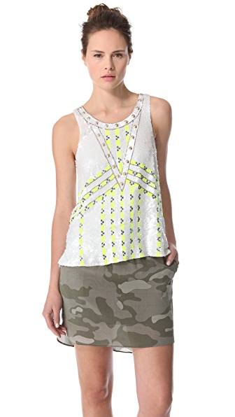 April, May Casper Beaded Tank