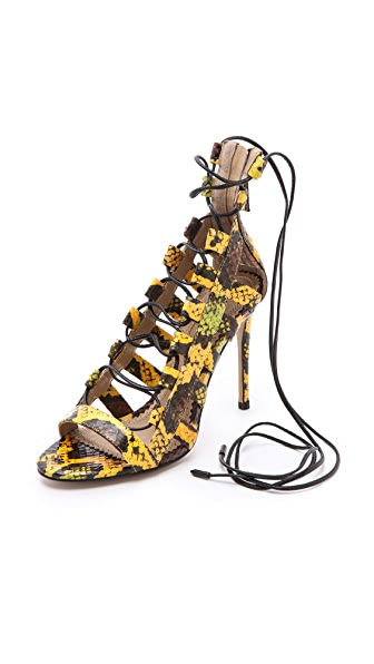 Aquazzura Amazon Lace Sandals
