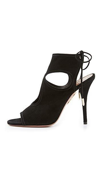 Aquazzura Sexy Thing Cutout Booties