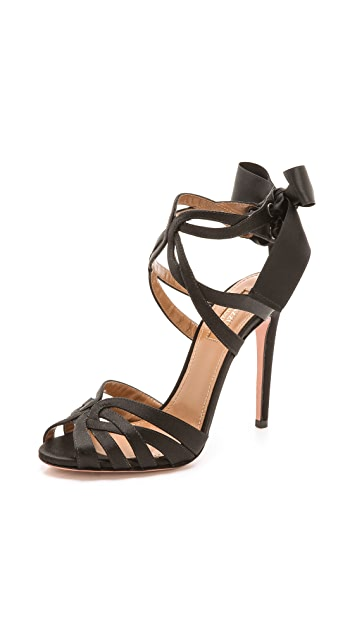 Aquazzura Charlotte Tie Up Sandals