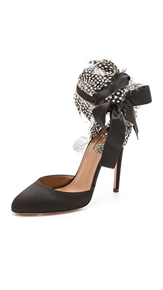 Aquazzura Madison Feather Pumps