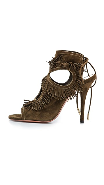 Aquazzura Sexy Fringe Sandals