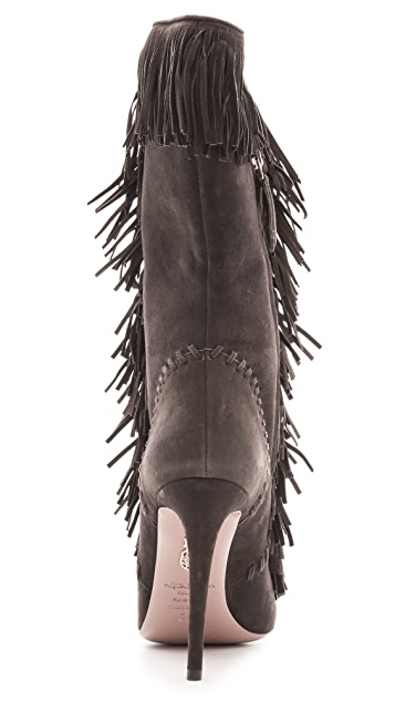 Aquazzura Carly Fringe Boots