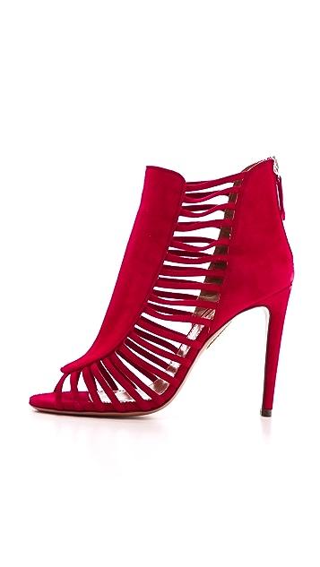Aquazzura Follow Me Caged Sandals