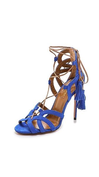 Aquazzura Mirage Tassel Sandals