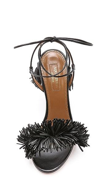 Aquazzura Wild Thing Fringe Sandals