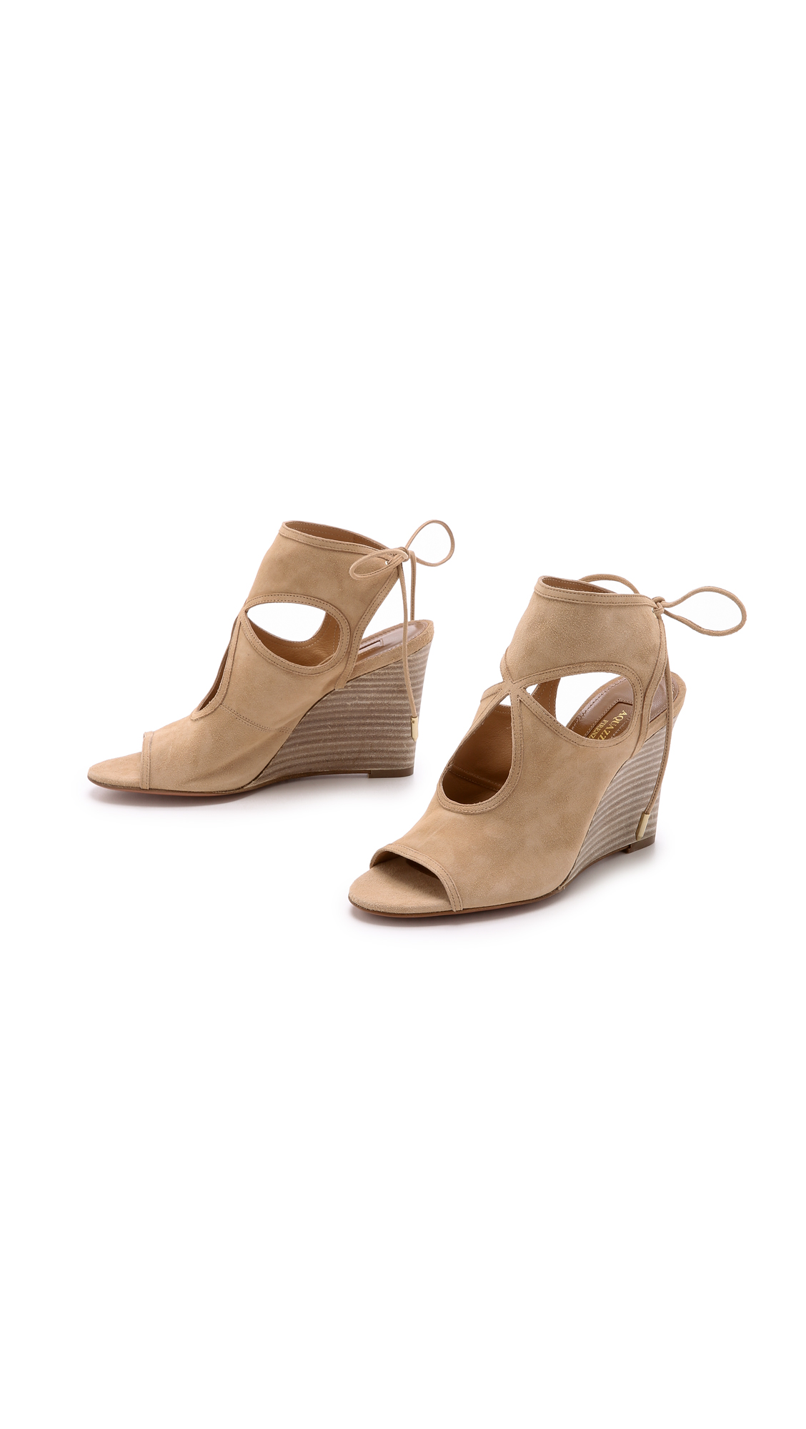 e830f406bac09 Aquazzura Sexy Thing Wedge Sandals