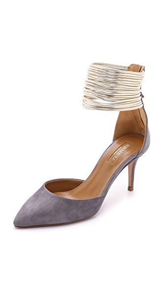 Aquazzura Hello Lover Suede Pumps
