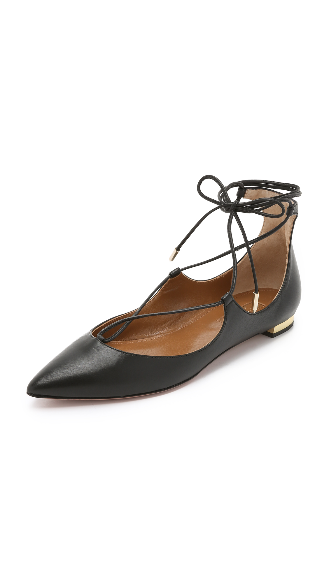Aquazzura Christy Flats - Black
