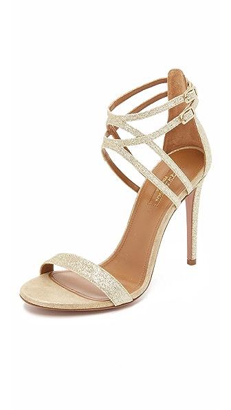 Aquazzura Lucille Sandals - Light Gold at Shopbop