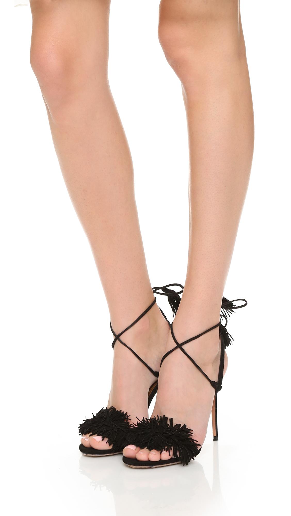 e9afc9490063 Aquazzura Wild Thing Fringe Sandals