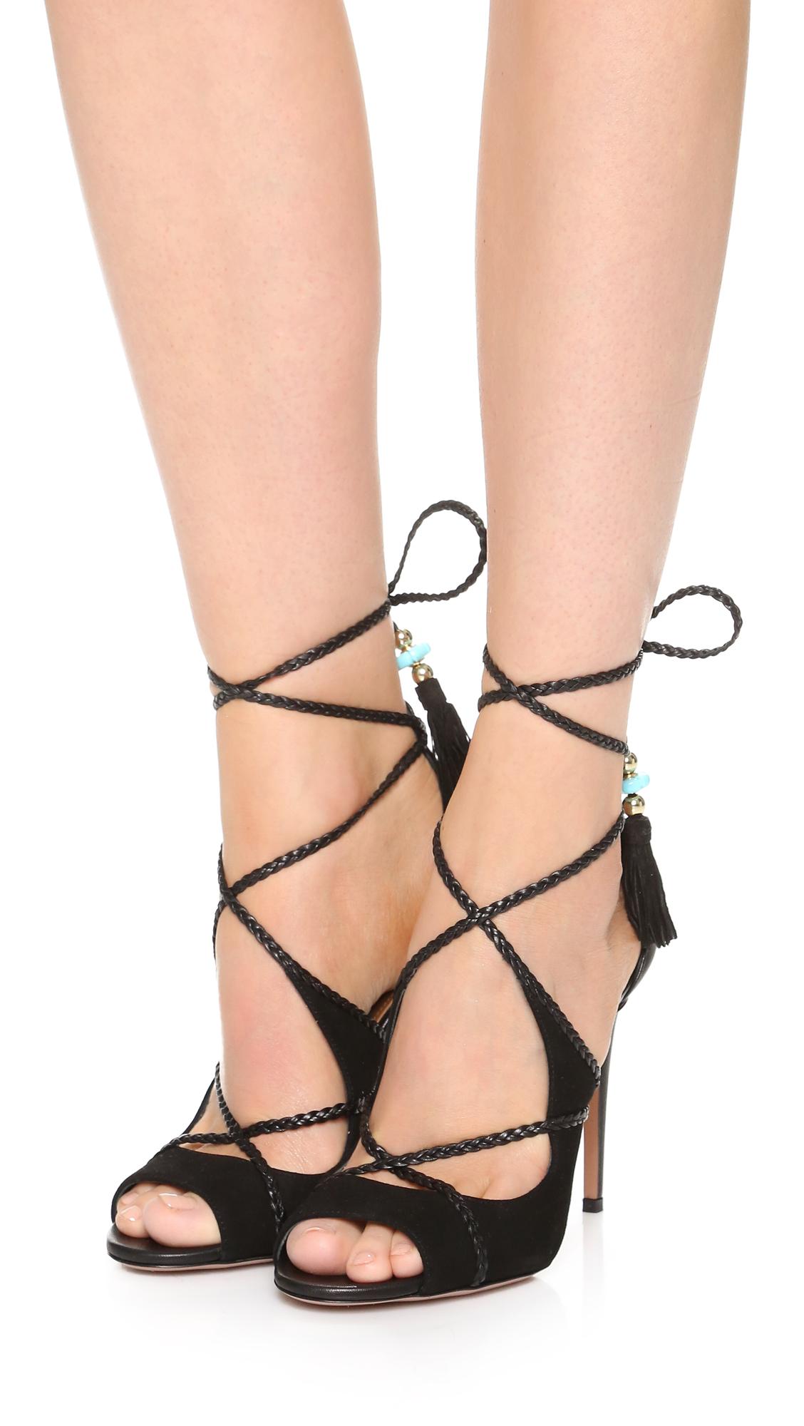 Black poppy sandals - Aquazzura Aquazzura X Poppy Delevingne Hero Sandals 15 Off First App Purchase With Code 15foryou