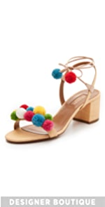 Pom Pom City Sandals                Aquazzura