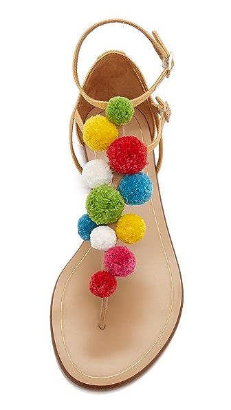 Cute pom pom sandals