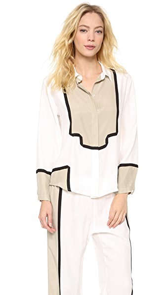 Ari Dein Colorblock Boutique Hotel Pajama Top