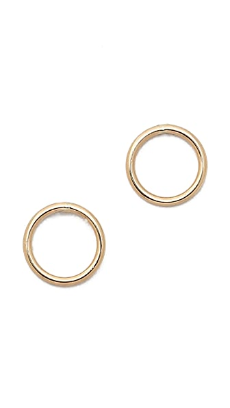 Ariel Gordon Jewelry Delicate Circle Silhouette Stud Earrings