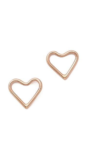 Ariel Gordon Jewelry Delicate Heart Silhouette Stud Earrings